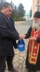2017год отец Архип благословляет целителя Алексея Михайловича. Монастырь Симеона Верхотурского